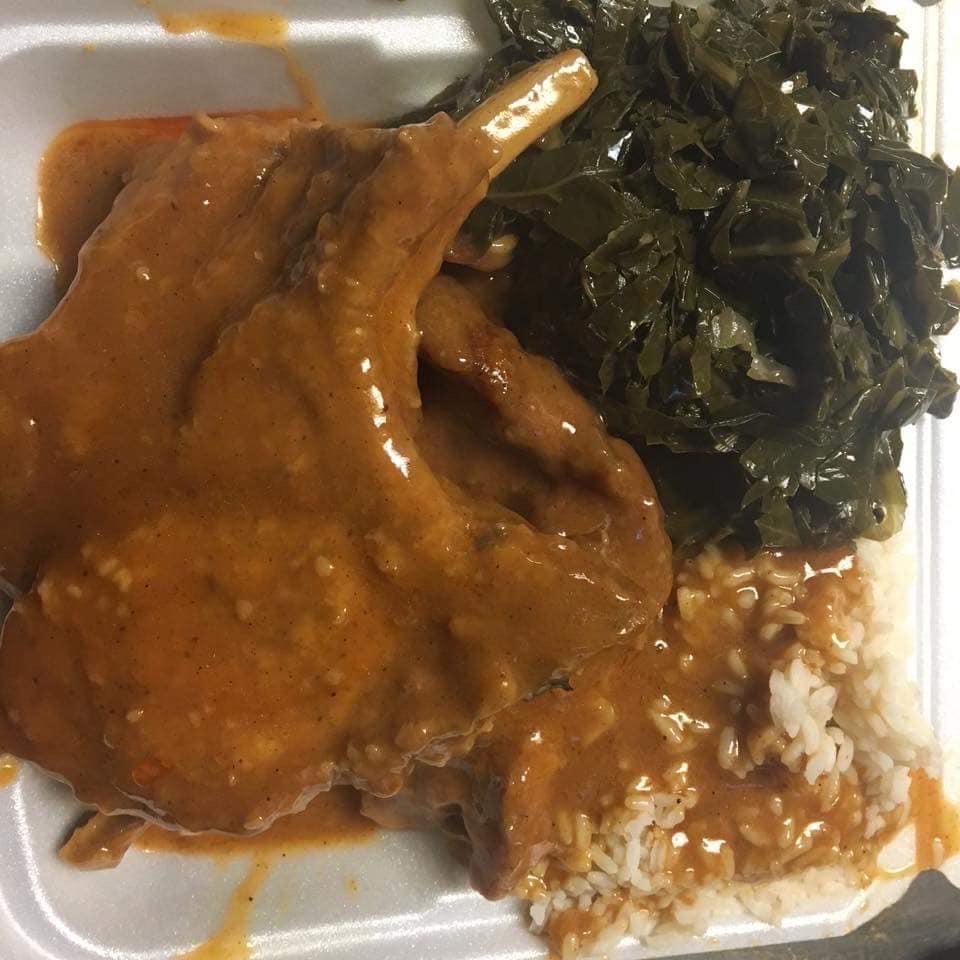 Smothered Pork Chop Platter