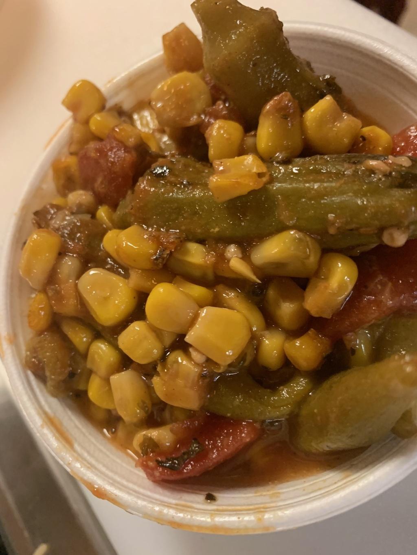 Okra Corn And Tomatoes