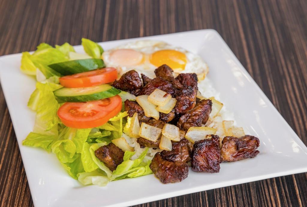 -Cubed Steak & Eggs