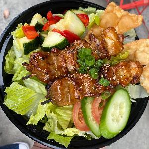-Grilled Pork Loin Salad