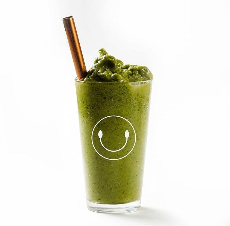Nutty Matcha Smoothie (Banana, spinach, organic matcha, pecans, almond butter, Himalayan Salt, Sprouted Pea Protein)