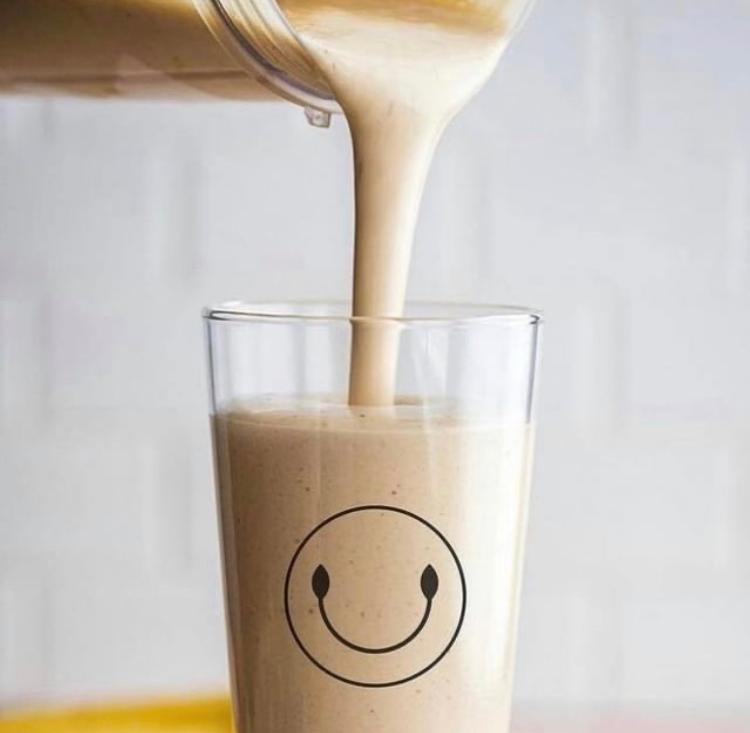 Peanut Butter Smoothie (Banana Non Gmo Peanut Butter, Peanut Butter Powder, Choice Of Protein & Almond Milk)