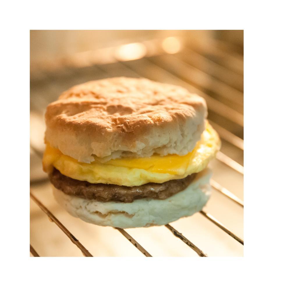 Biscuit/ Jerk Sausage & Eggs