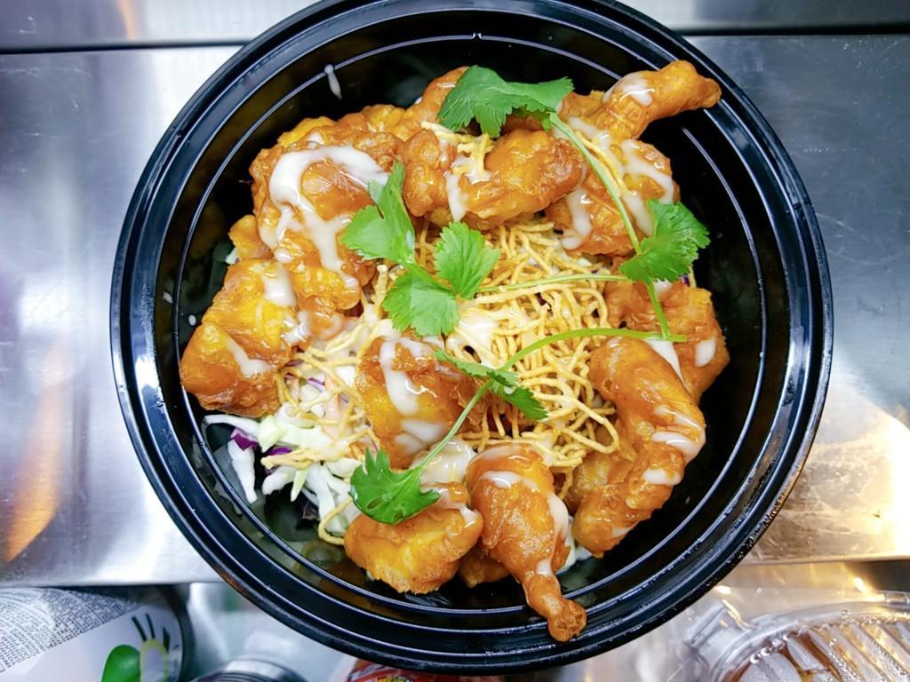 Crunchy Thai slaw with chicken
